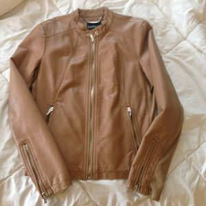 Express Jacket in Tan Leather, sz. M